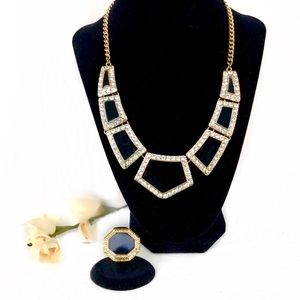 House of Harlow 1960 Ring & Necklace Set